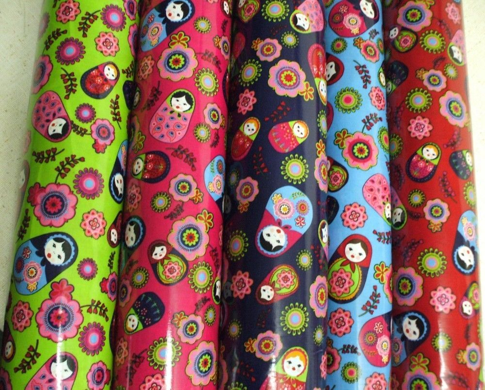 Russian Dolls Babushka WipeClean PVC Tablecloth COTTON Oilcloth 135cm wide in Home, Furniture & DIY, Cookware, Dining & Bar, Tableware, Serving & Linen | eBay
