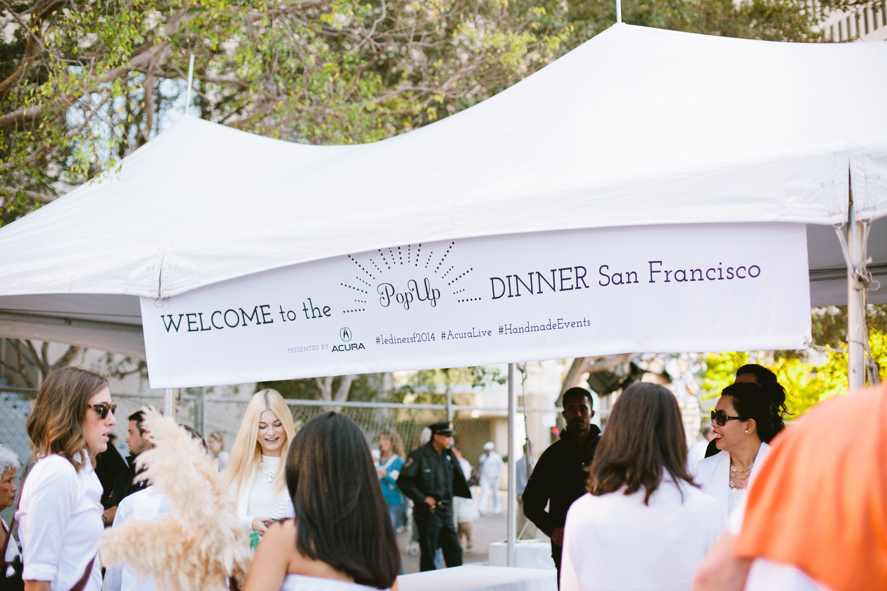 Welcome to Le Diner a SF! (Event Production by Hand Made Events Photography by Sorella Muse Photography) #ledinersf2014 #handmadeevents #acuralive