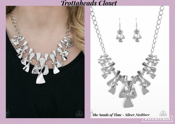 The Sands of Time Paparazzi Necklace Silver