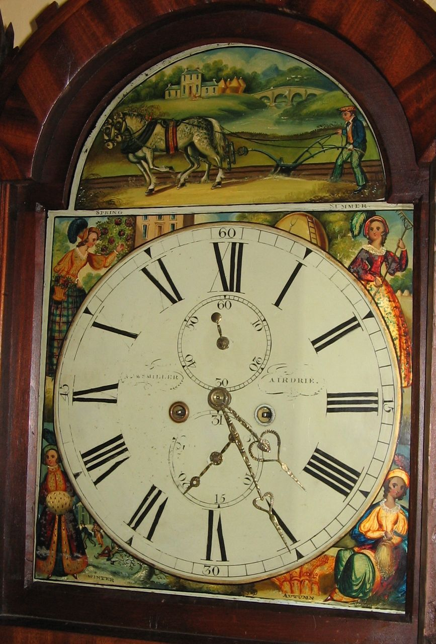dating painted dial grandfather clocks