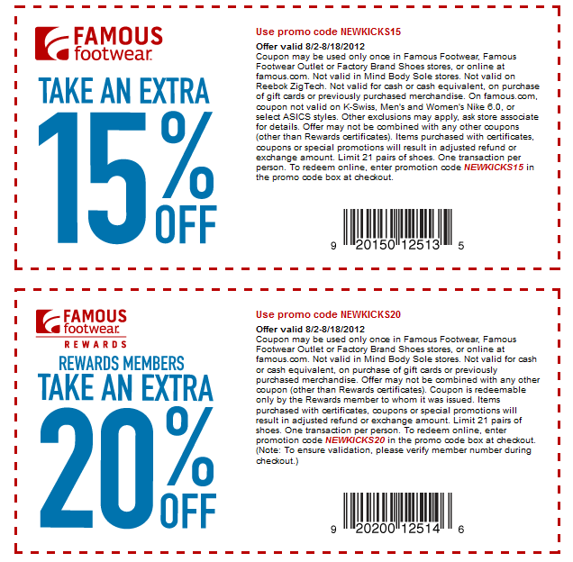 famous footwear free shipping coupons