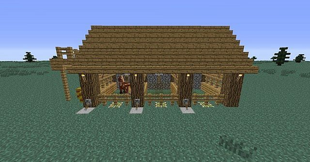 Horse Stable Minecraft Project Minecraft Stables