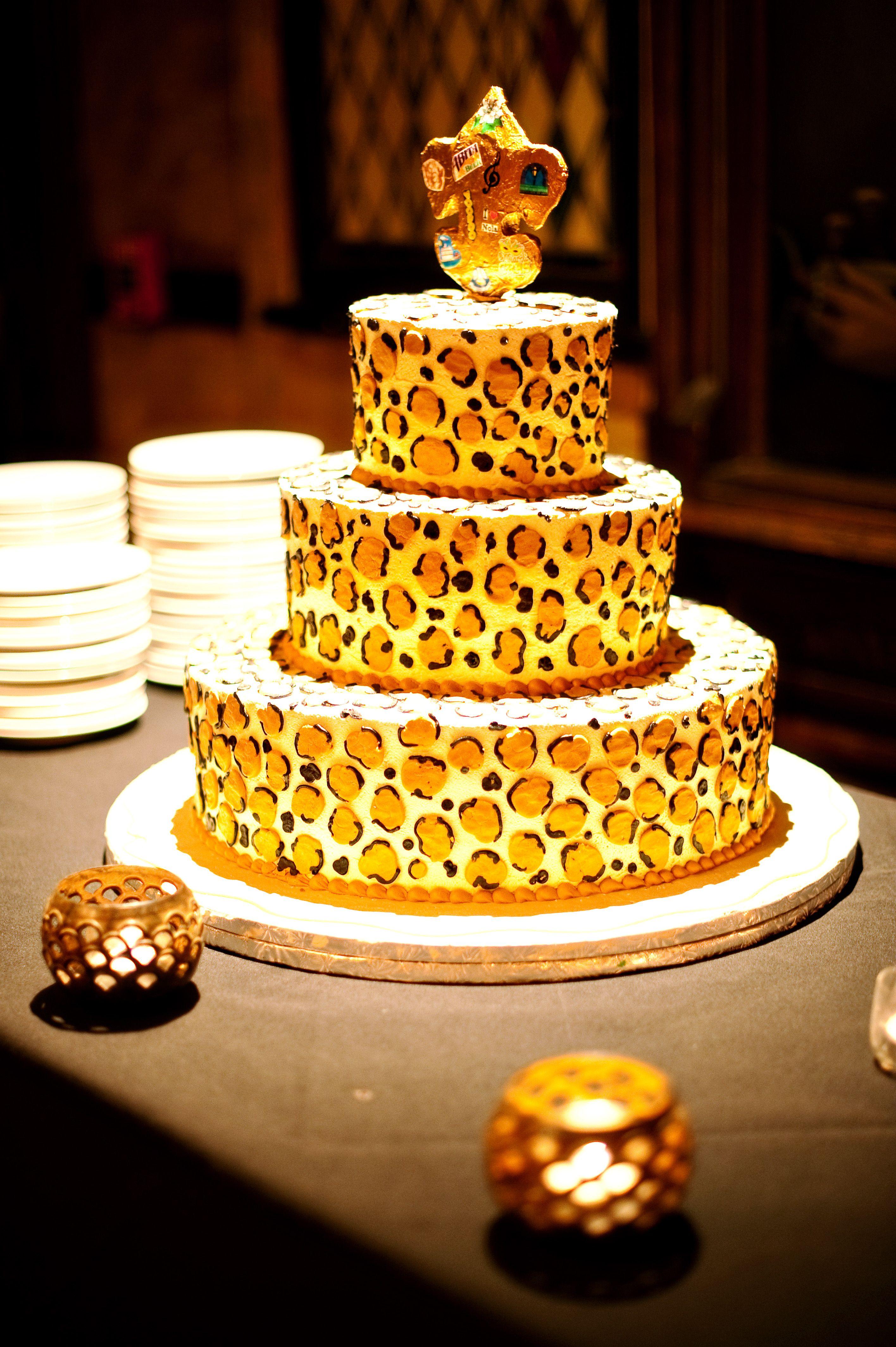 leopard print wedding cake nola wedding pinterest