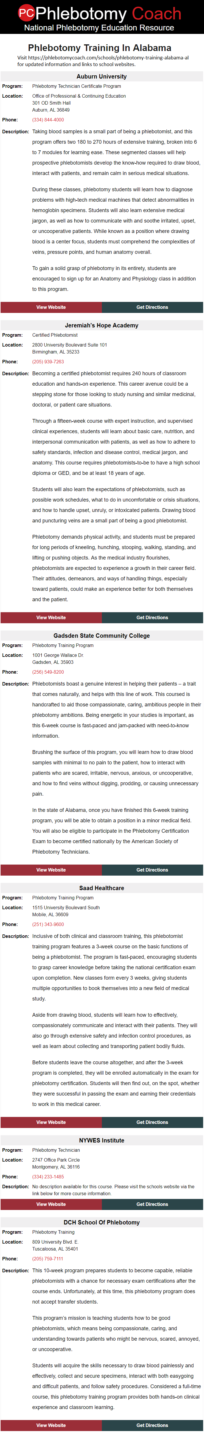 Phlebotomy training in alabama find accredited phlebotomy classes phlebotomy training in alabama find accredited phlebotomy classes in alabama click here for updated 1betcityfo Choice Image