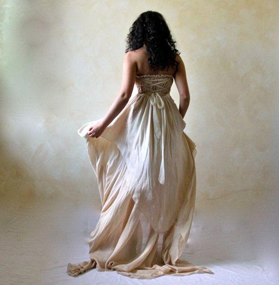 Brautkleid Boho-Hochzeitskleid Brautkleid Alternative von LoreTree