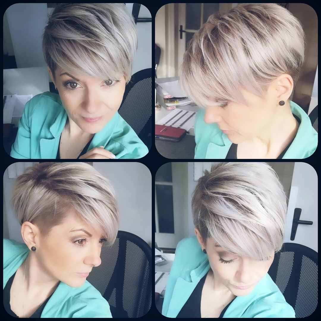 Dori On Instagram Im Moment Funktioniert Der Ubergang Noch Recht Gut Mal Sehen Wie Lang Bin Dab Haarschnitt Frisuren Kurz Kurze Haare Wachsen Lassen