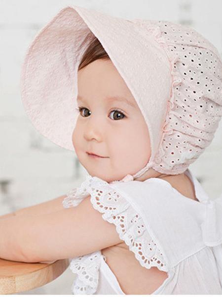 White Eyelet Bonnet  Sunhat w Pastel Embroidery sizes Newborn through 5 years