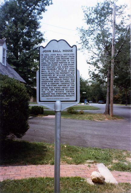 Ball Sellers House Historical Marker Historical Marker Arlington County Outdoor Decor