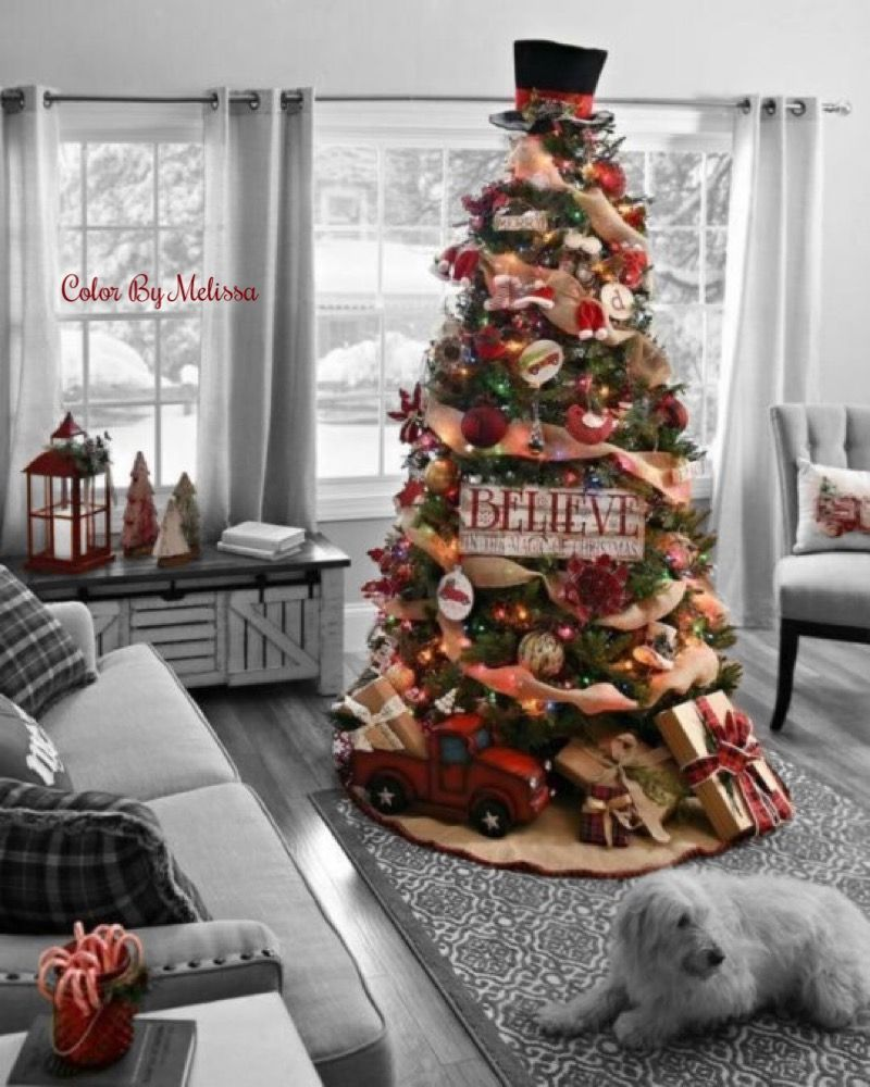 Color by Melissa #indoorchristmasdecor