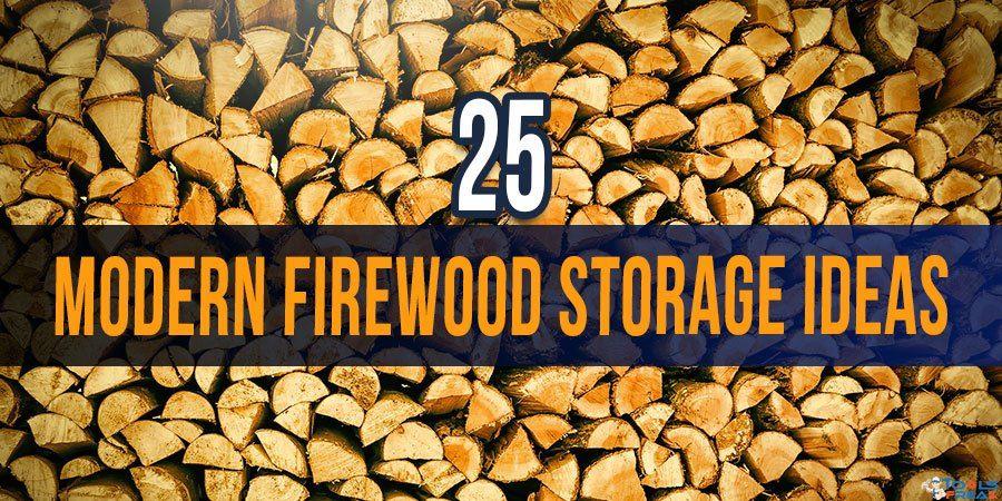 25 Modern Firewood Storage Ideas #firewoodstorage