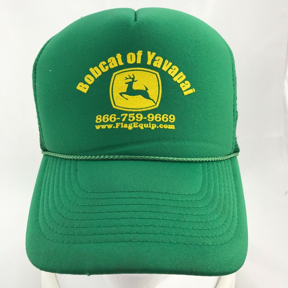 Bobcat Of Yavapai Green Trucker Snapback Cap Hat Mesh Foam Adjustable Braid Otto Baseballcap Caps Hats Sweatband Trucker Cap