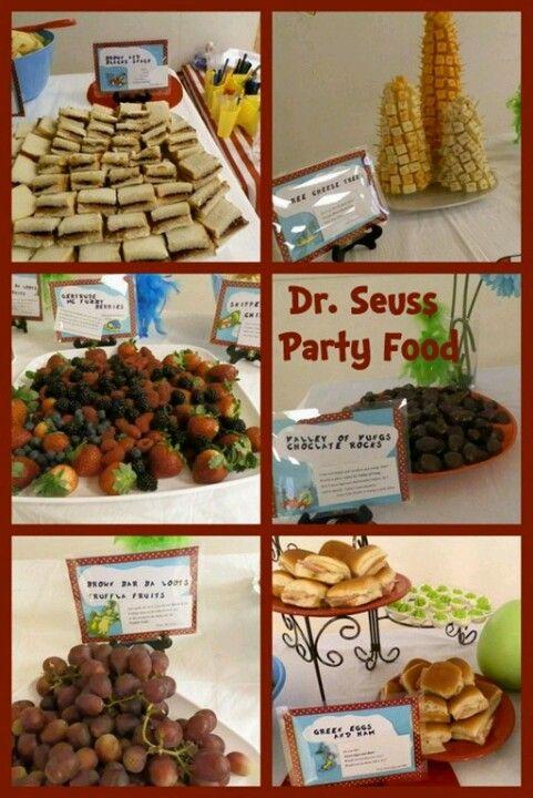 Dr Seuss Party Food Indys 2nd Athenas 3rd D Party Stuff