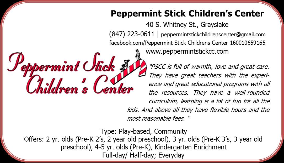 Peppermint Stick Children's Center Grayslake #daycare #preschool