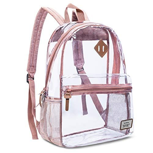 Black Luggage & Bags Transparent Backpack Makeup Bags For Women And Men Transparent Pvc College Bookbag For Student Cute School Bag For Gir