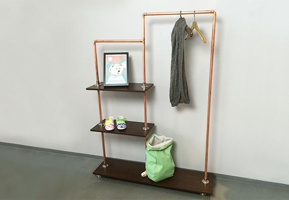 KupferrohrRegal Kupferrohr, Rohre und Garderobe selber