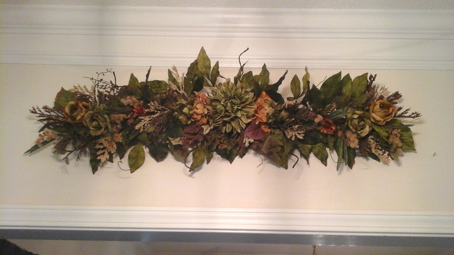 Wall Swag Tuscan Winter Shipping Included Silk Fl Table Centerpiece Arrangement Over Door Wreath Unique Wreaths And
