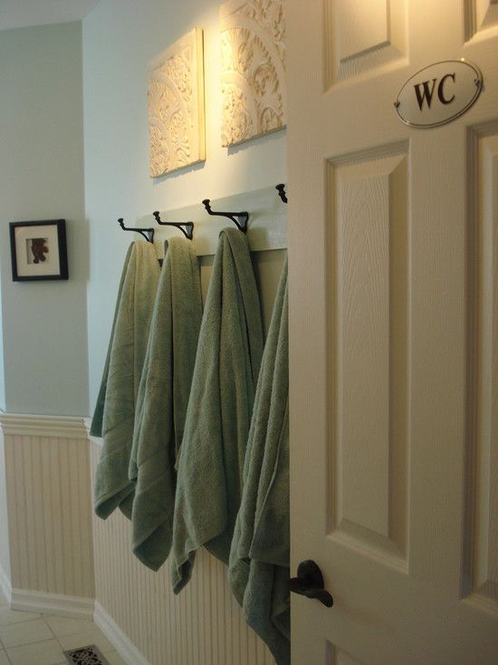 Coat Hooks For Towel Rack In The Bathroom. Would Be Cute And Helpful To Have