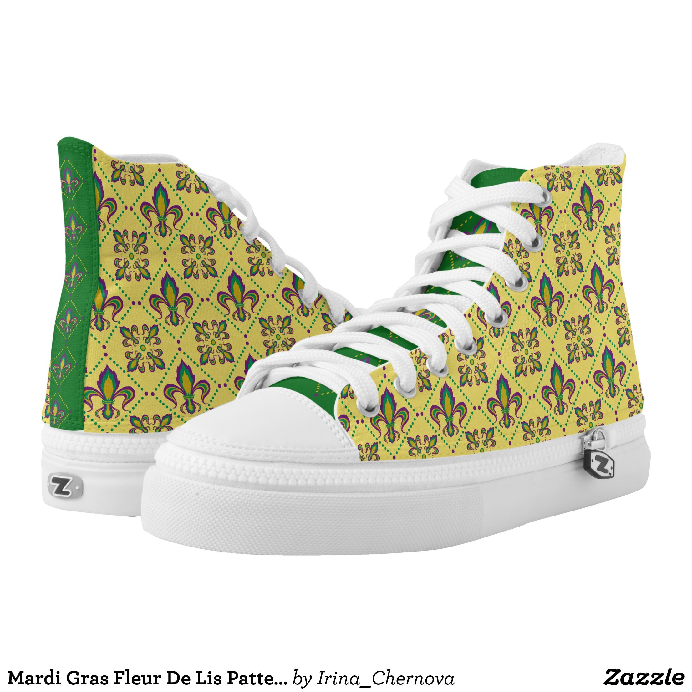 1f5b1f219fe6 Mardi Gras Fleur De Lis Pattern High-Top Sneakers - Canvas-Top Rubber-Sole  Athletic Shoes By Talented Fashion And Graphic Designers -  shoes  sneakers  ...