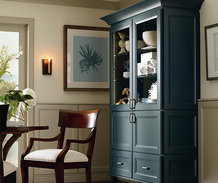 This Dining Room Storage Cabinet In Maple Maritime Finish Provides A Stunning Focal Point As Well