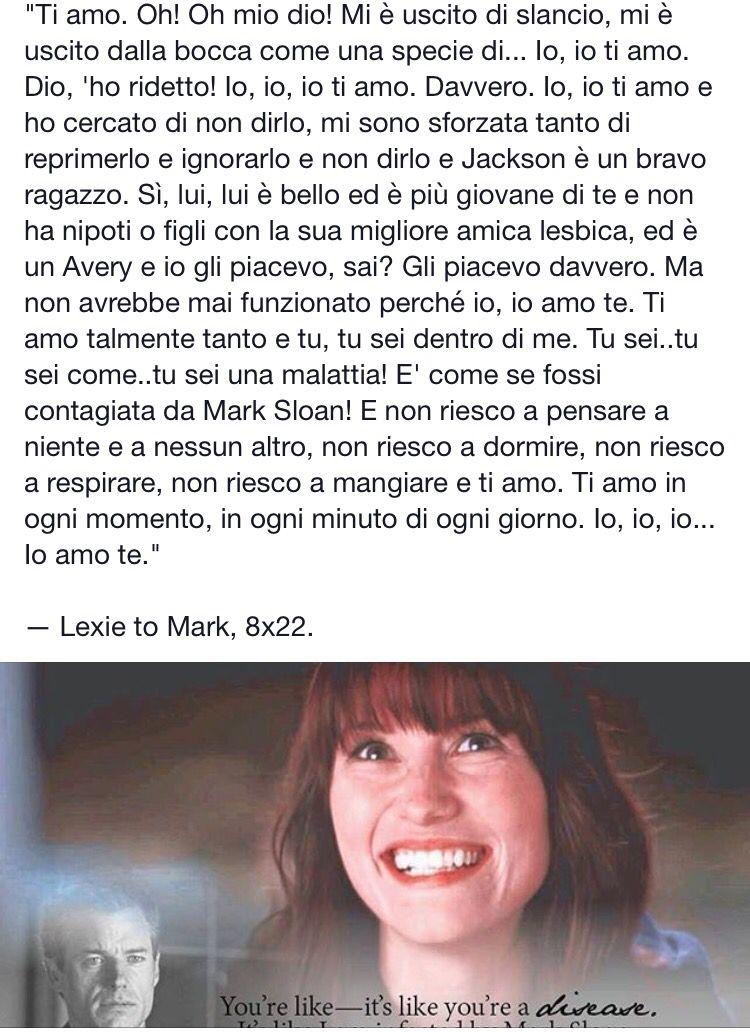 Lexie e Mark | Non solo un telefilm... Grey\'s Anatomy! | Pinterest