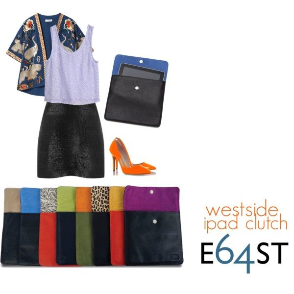 Westside Leather and Suede iPad Clutch by E64ST.