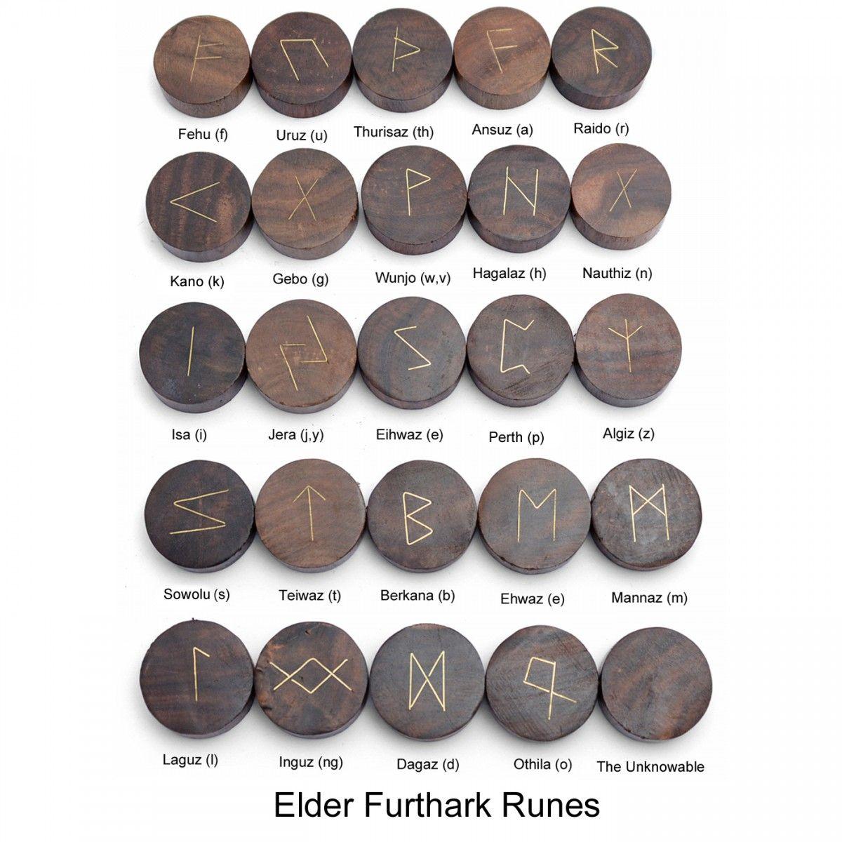 Wooden Rune Set Rune Stones Cards Rune Stones Divination Runes Runes