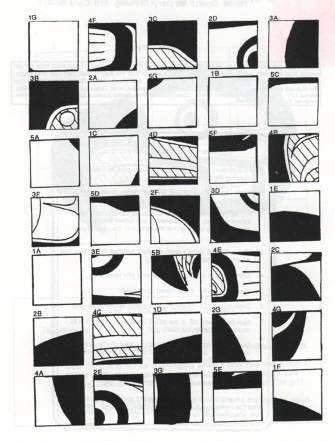 These free drawing grid enlargement worksheets are