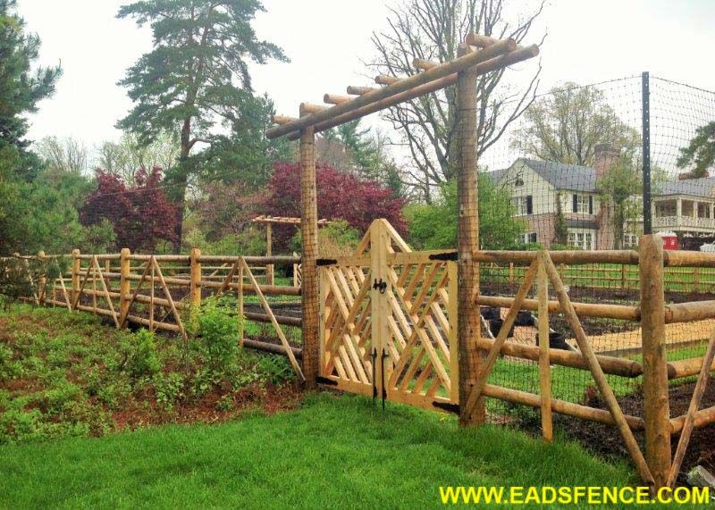 Lovely Custom Wood Garden Fence By Eads Fence Company.