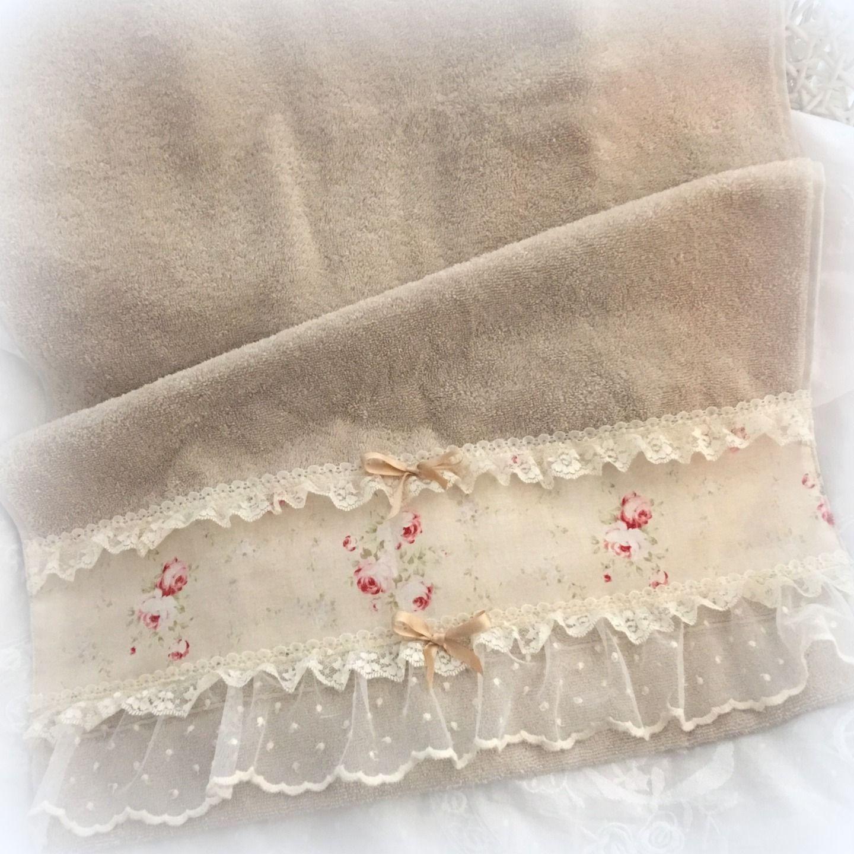 serviette de toilette shabby sable textiles et tapis par