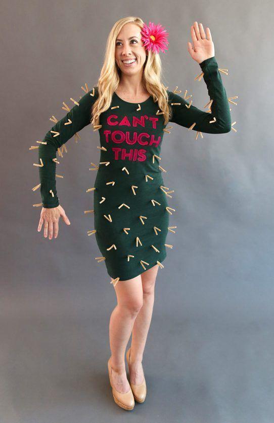 Kaktus Kostüm selber machen Kostüm Idee zu Karneval, Halloween - lustige bilder selber machen