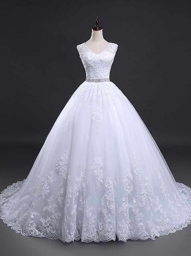 Prinzessin Brautkleid, Spitze Brautkleid, klassische Brautkleider, 11156