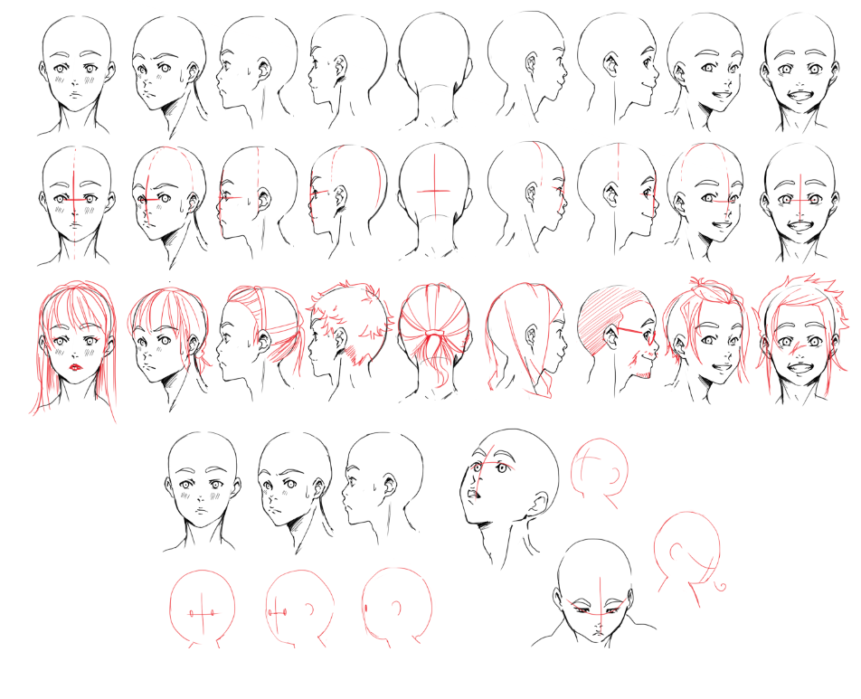 whyt manga how to draw face turn around