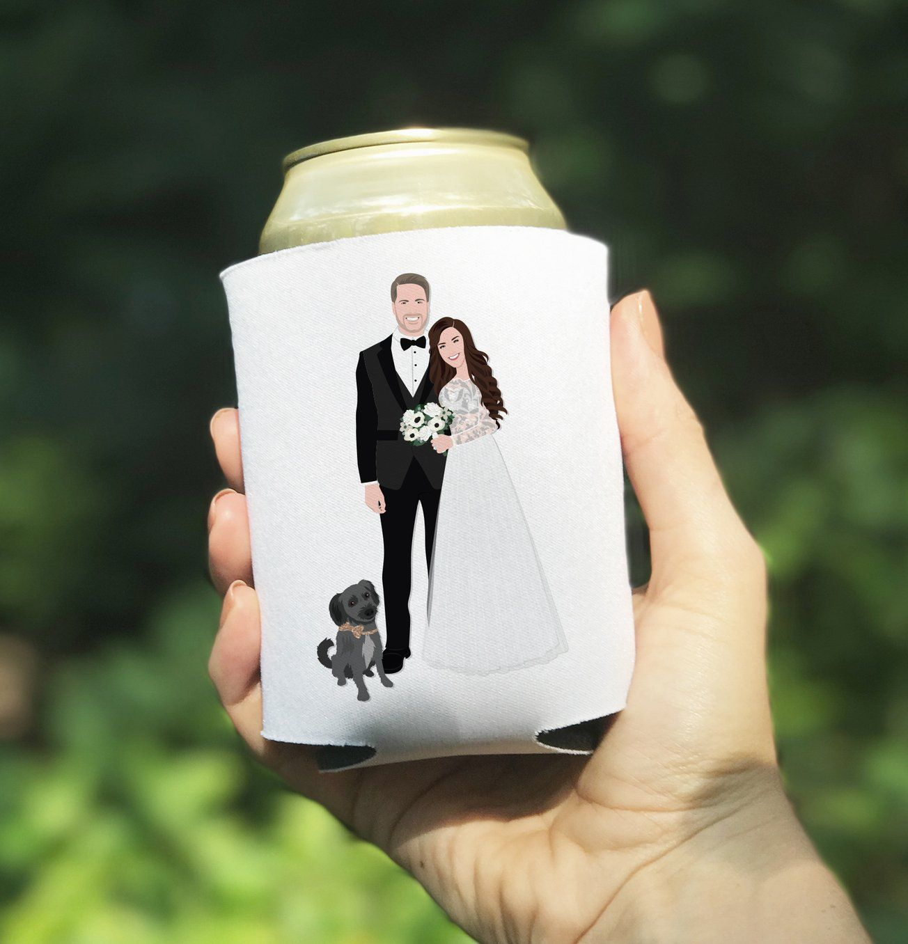 Custom Wedding Coozie Printing - Can Cooler Wedding Favor Koozies ...