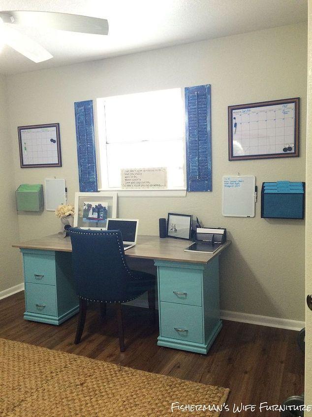Elegant Diy Filing Cabinet Desk, Diy, Home Decor, Home Office, Painted Furniture
