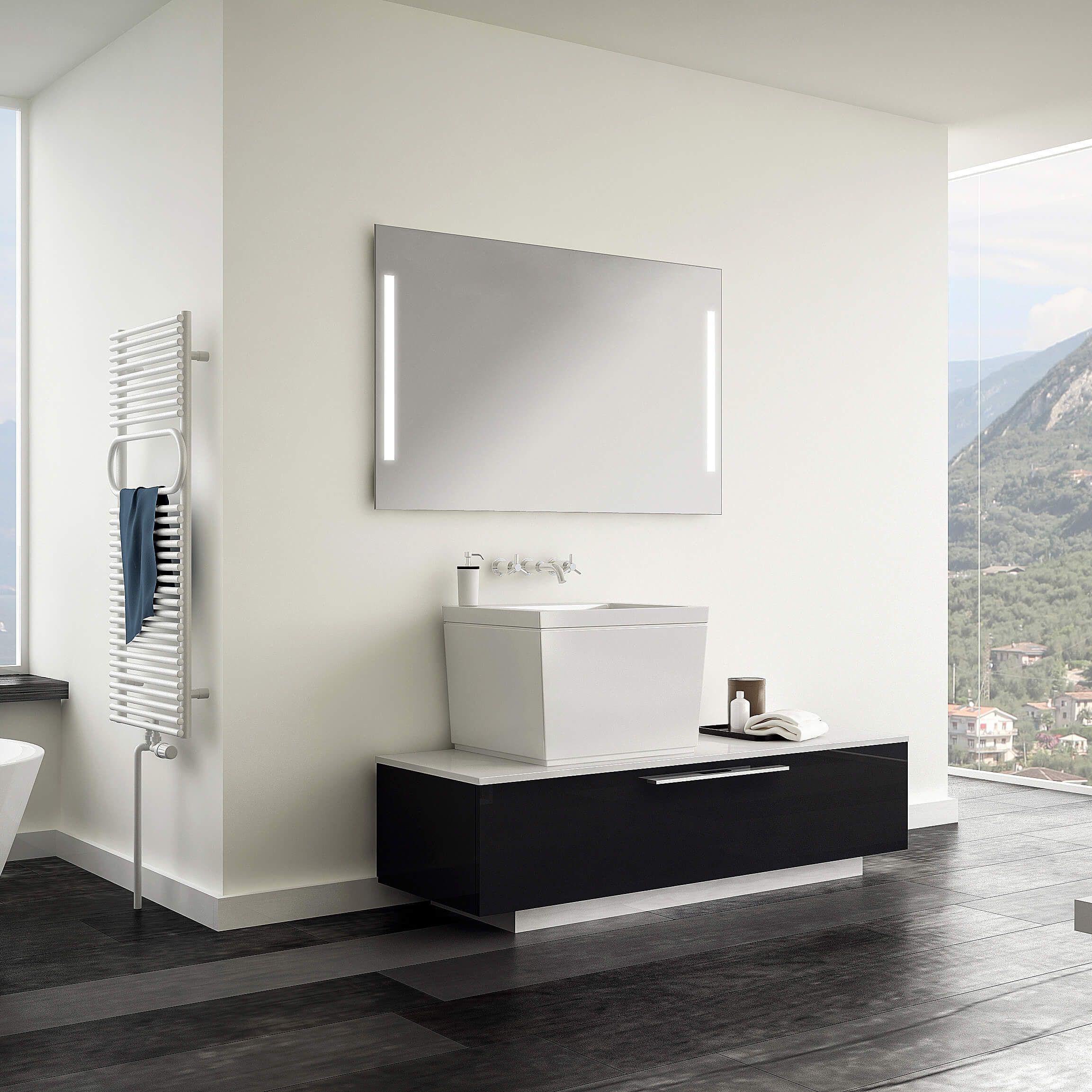 Badezimmer Idee Mit Einem Badspiegel Easy Side Von Schreiber Licht Design Gmbh Badspiegel