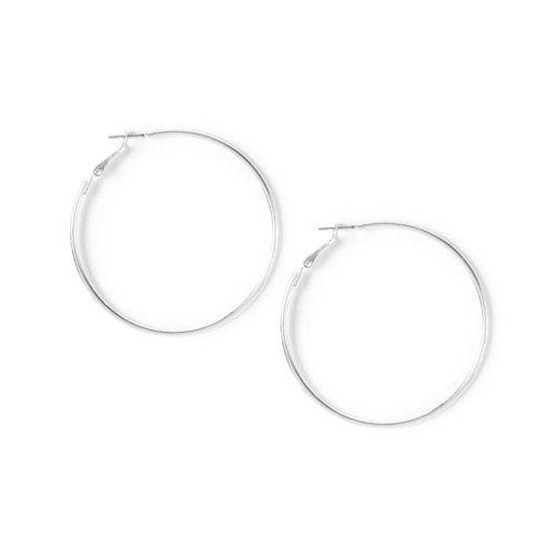 Medium Silver Hoop Earrings | Icing