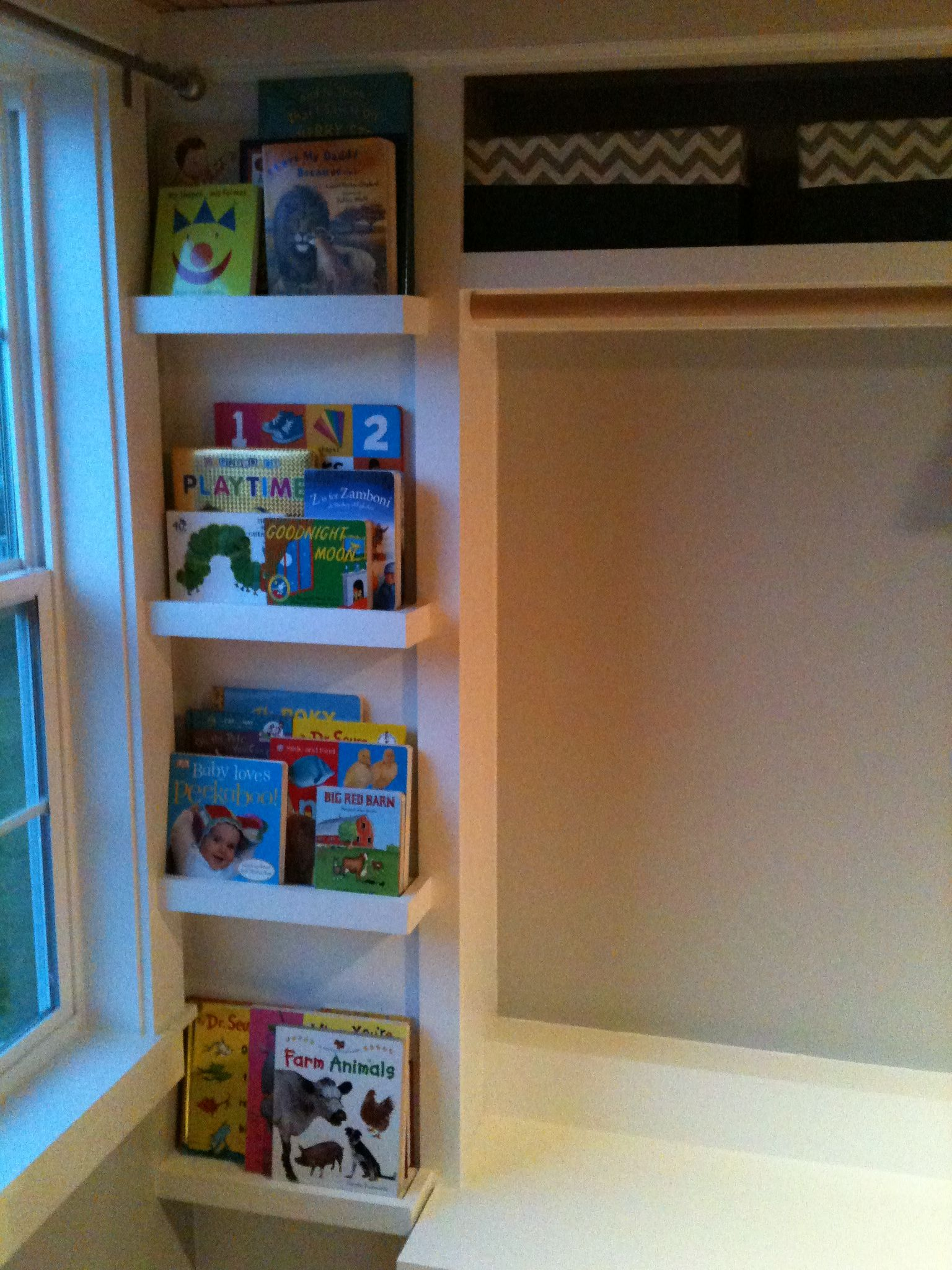 Nursery Bookshelves Closet