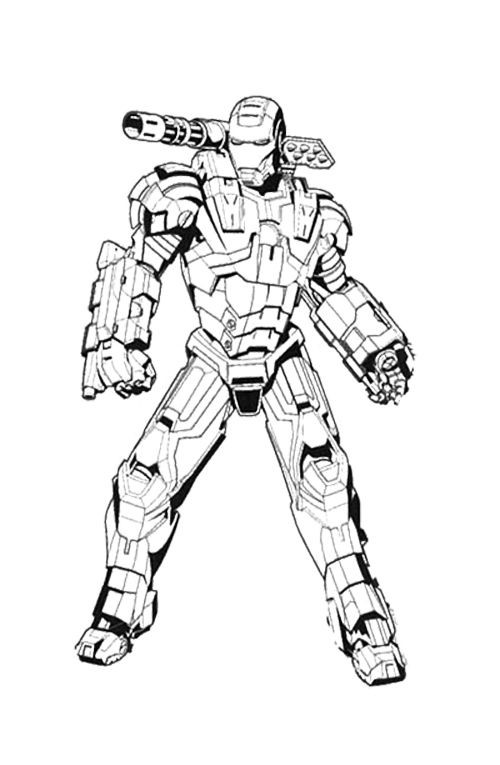 Iron Man Machine Coloring Page | Christmas coloring pages ...