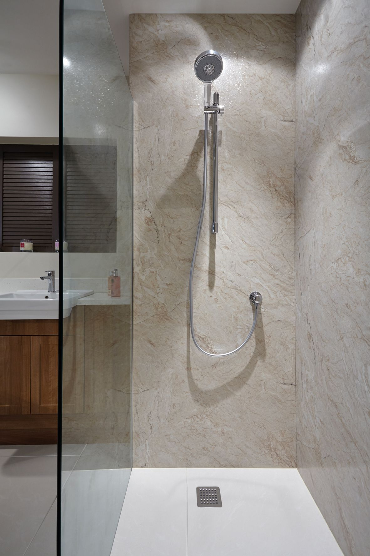 Nuance Laminate Panelling Is An Ideal Alternative To Tiling There Are No Grout Lines To Scrub With Images Bathroom Shower Panels Shower Wall Panels Bathroom Shower Walls
