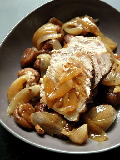 R ti de veau aux marrons et chalotes recette olives paris et cuisine - Cuisiner un roti de veau ...
