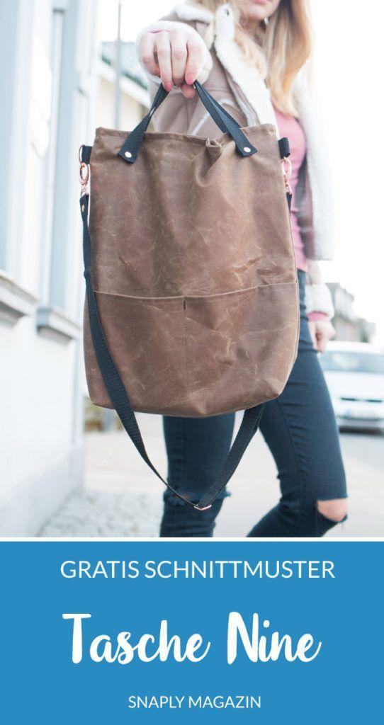 Kostenloses Schnittmuster: Tasche Nine #bag