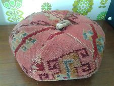 Great Early 20th Century Carpet-Covered Foot Stool - Shabby Chic/Granny Chic