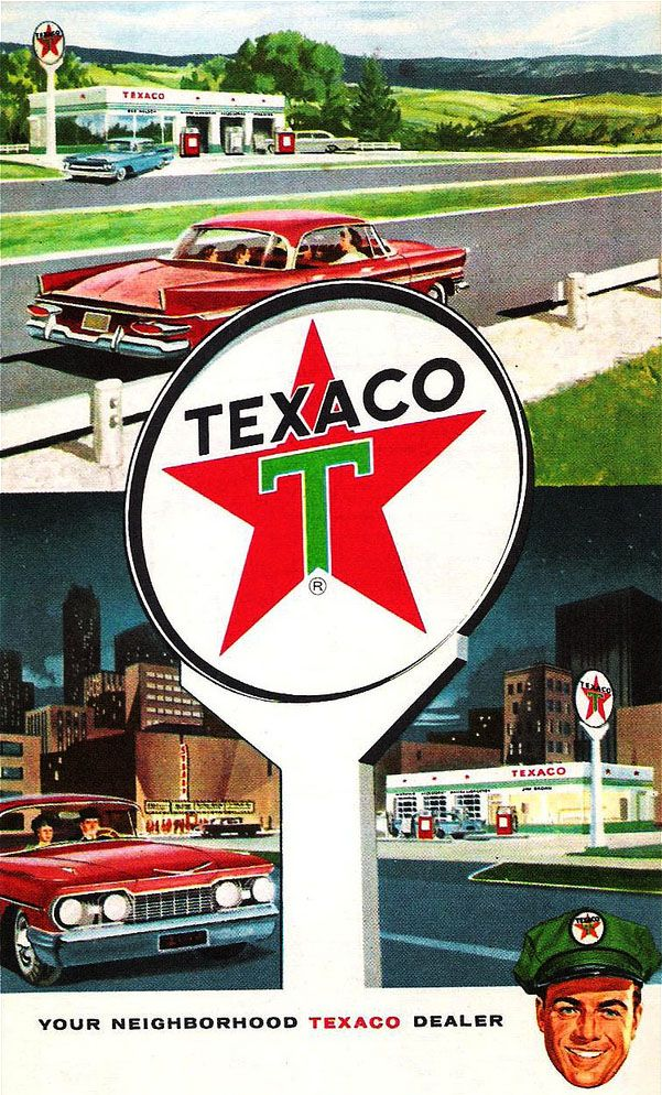 Roadmap Of The Us%0A Texaco      road map