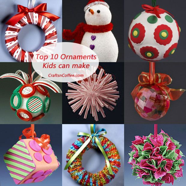 Great Christmas Craft Ideas Part - 19: Really Cute Collection Of Christmas Ornament Tutorials For Easy Crafts The  Kids Can Really Make.