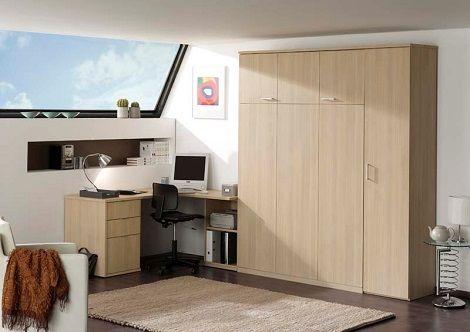 Bed 140 Breed.Boone Bedkast Met Bureau Wit Eiken Bed 140 160 180 Cm