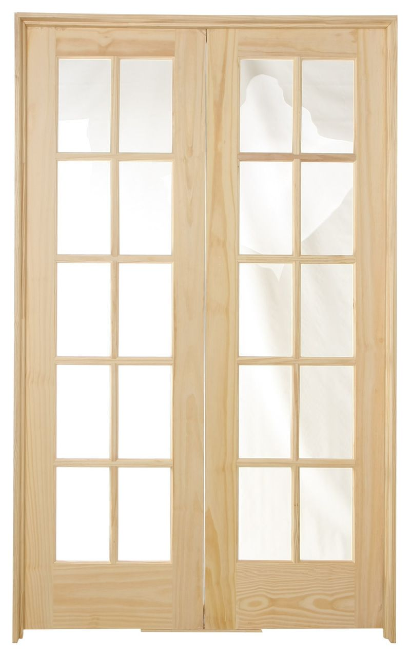 48 In X 80 In 10 Lite Pine Prehung Interior French Door Prehung Interior French Doors French Doors French Doors Interior