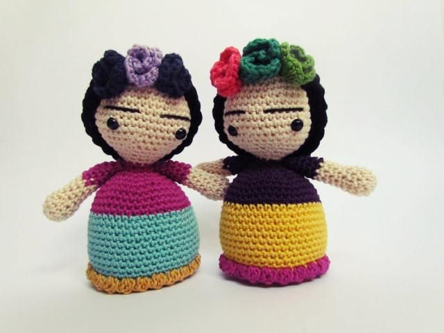 Frida Amigurumi Patron : Puntobajo frida kahlo mi patron amigurumi crohet ganchillo