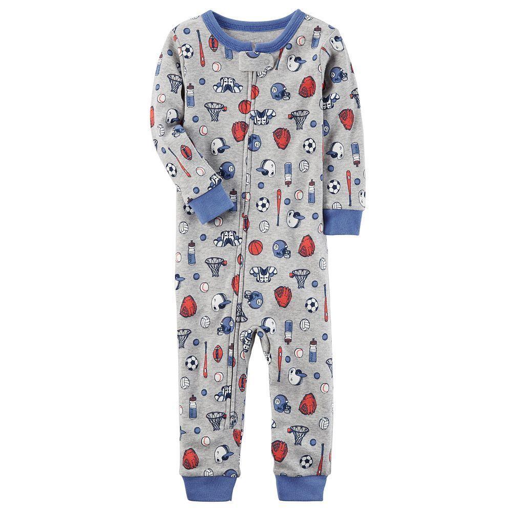 141212634 Toddler Boy Carter s Sports Footless Pajamas