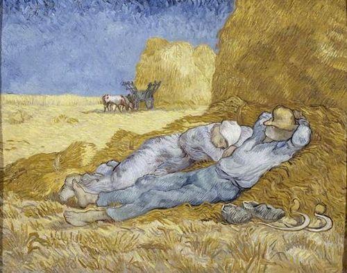 1889 Van Ou Sieste La Gogh Vincent D'après Méridienne Millet 784xqnB