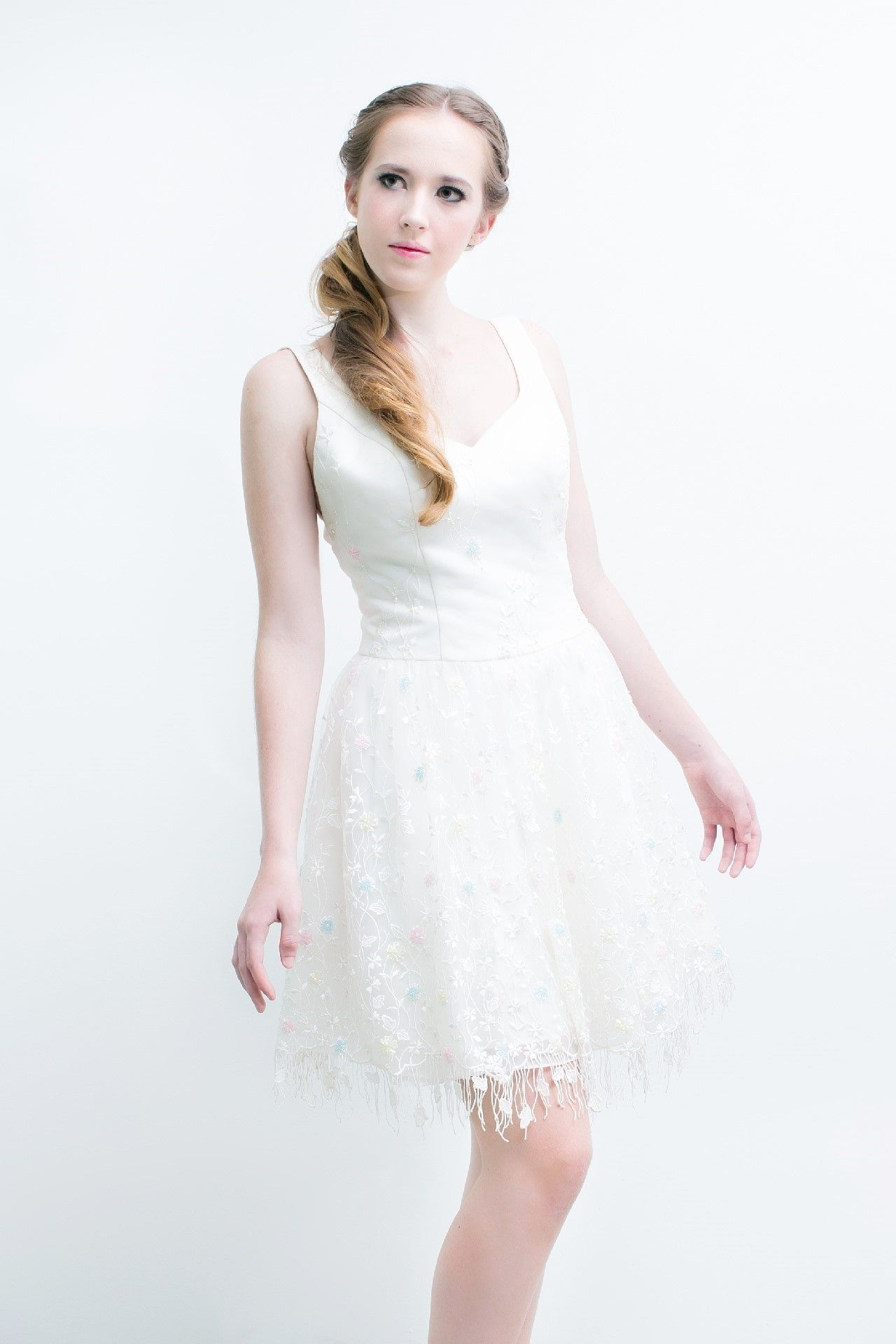 Wedding dresses rental  Dear bridetobe the new designmade cute White Strapless Short